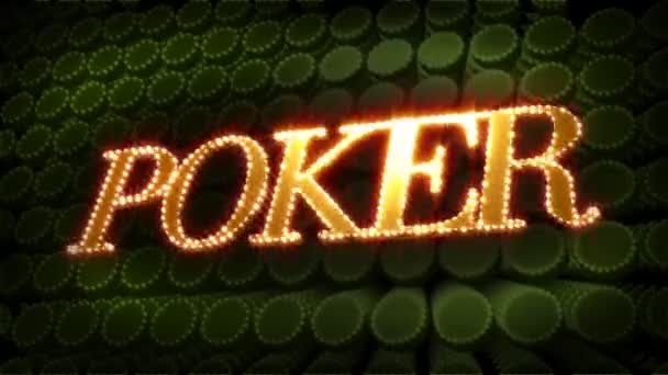 Poker - glitzernder Text