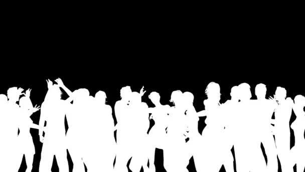 Lidé tančí silueta 3d vektorové animace