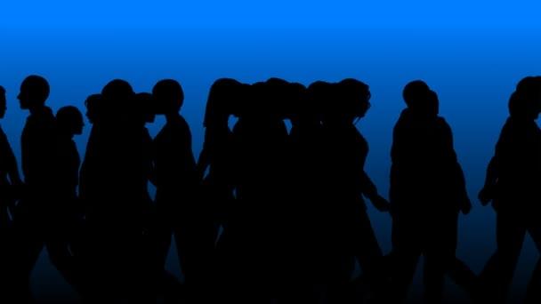 People Walking By (3D Vector Silhouette)