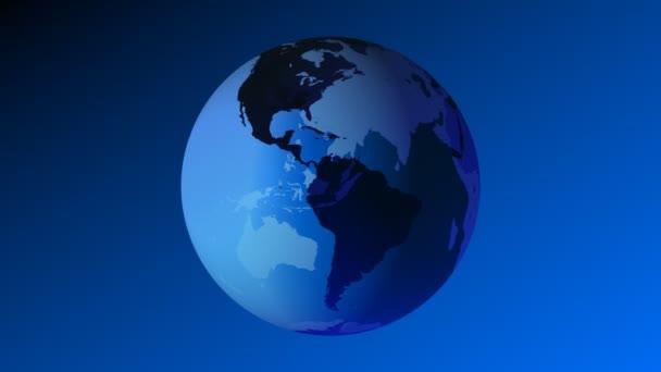 Erde 3d blauer Globus