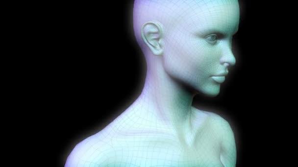 Kyborg 3d nadčlověk chůzi