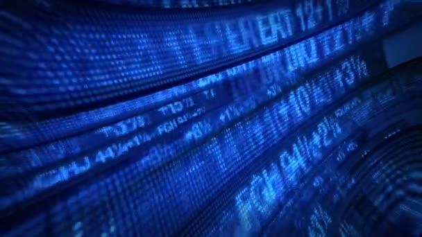 Akciový trh Tickers cenové údaje animace