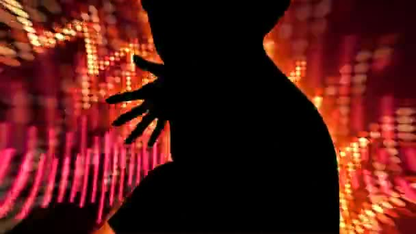 Lány tánc Audio hullámok