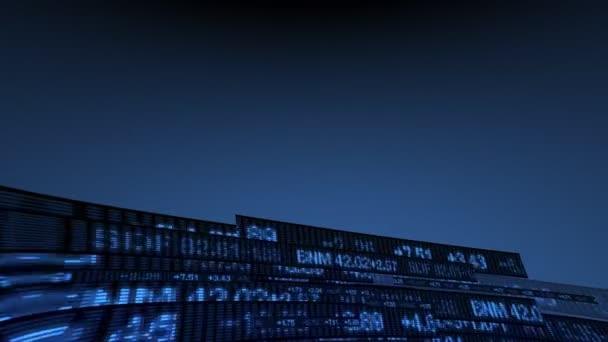 Tőzsde Tickers ár adatok animáció