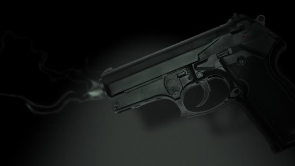 A fekete füstölgő pisztolyt