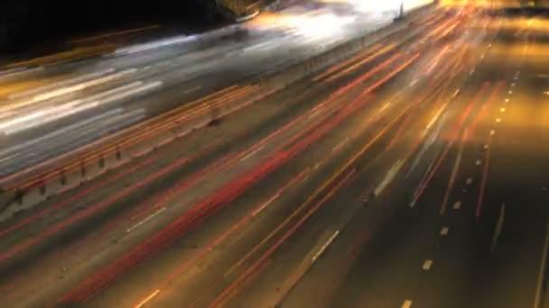 Provozu dálnice noční Timelapse