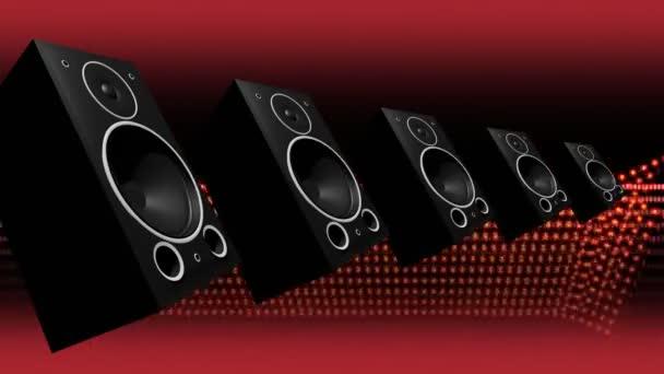 polternde Audio-Basslautsprecher