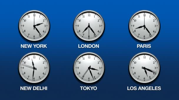 International Time Zones (HD Loop)