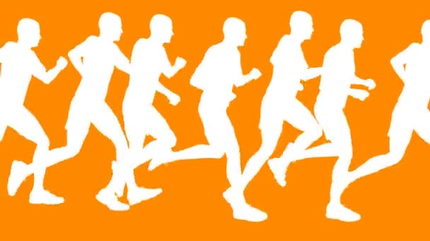 Running Men Vector Animation