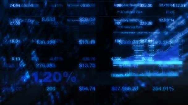 Akciový trh Tickers digitální Data