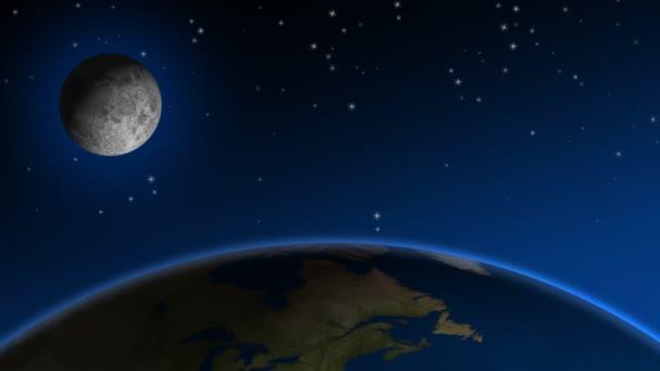 Moon,  Stars  Earth