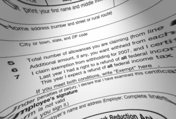 IRS 1040 Steuer Formular Makro