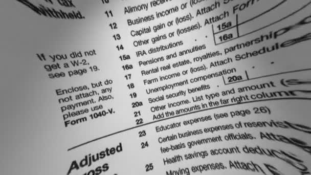 IRS 1040 adózási forma Macro
