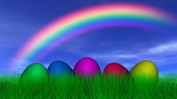 Ostereier unter dem Regenbogen