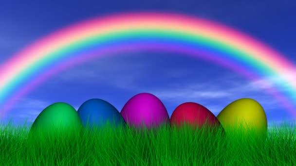 Velikonoční vajíčka pod duha