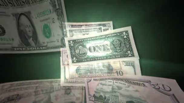 U.S. Dollar Bills Flying By (HD)