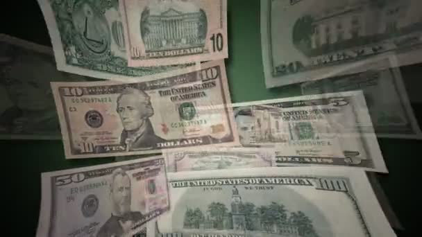 U.S. Dollar Bills Flying By (HD)