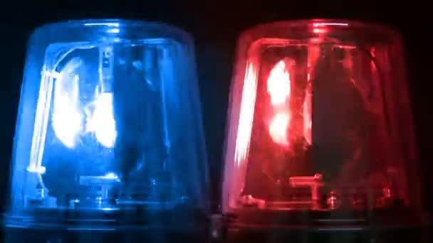 Modré  červené blikající nouzová světla