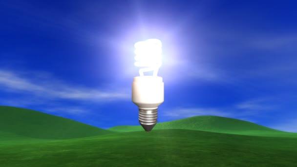 Úsporná žárovka z oblohy