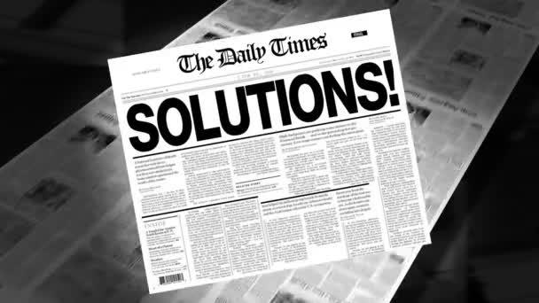 Solutions! - Newspaper Headline (Reveal + Loops)