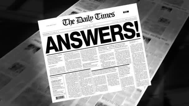 Answers! - Newspaper Headline (Reveal + Loops)