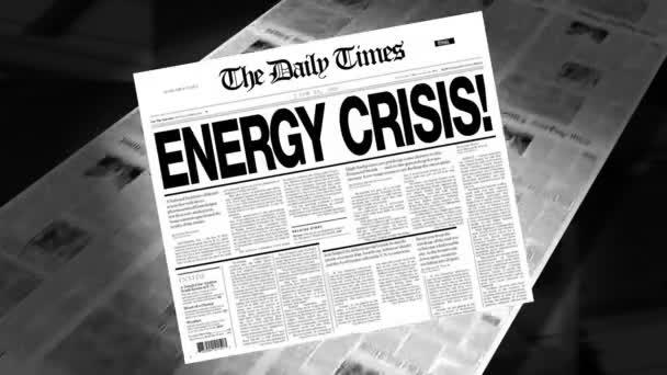 Energy Crisis - Newspaper Headline (Reveal + Loops)