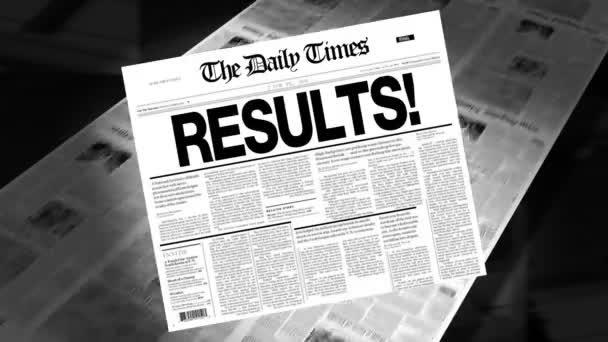 Results! - Newspaper Headline (Reveal + Loops)