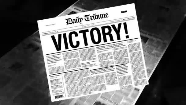 Victory! - Newspaper Headline