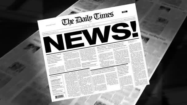 News! - Newspaper Headline (Reveal + Loops)