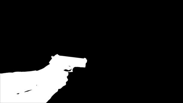 Man Shooting Gun - Silhouette