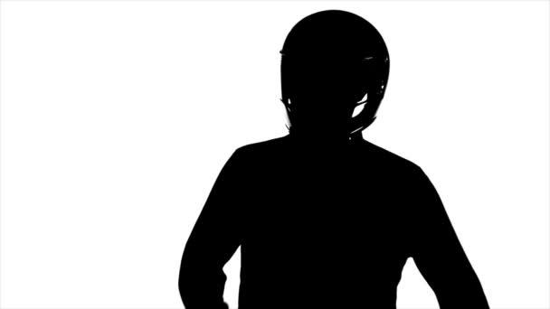 Silhouette - Man In Helmet