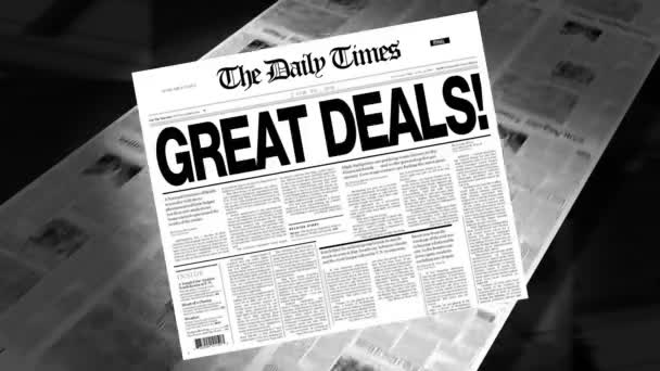 Great Deals! - Newspaper Headline (Intro + Loops)