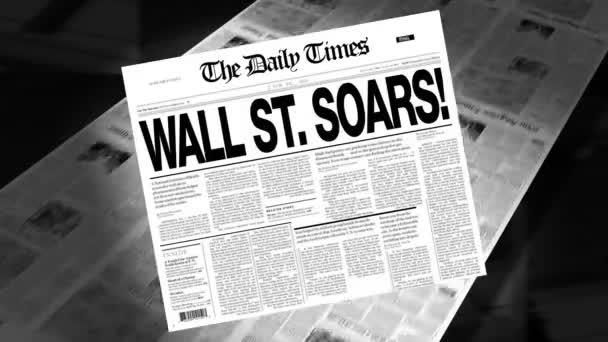 Wall Street Soars! - Newspaper Headline (Intro + Loops)