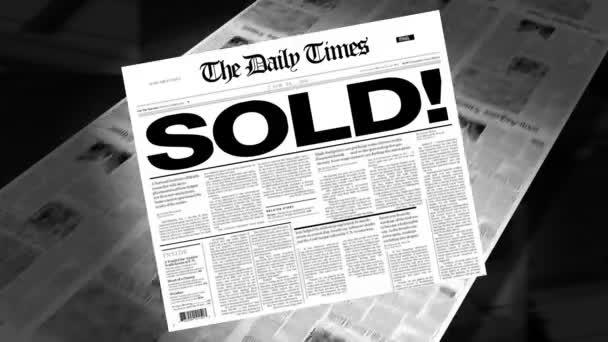 Sold! - Newspaper Headline (Intro + Loops)