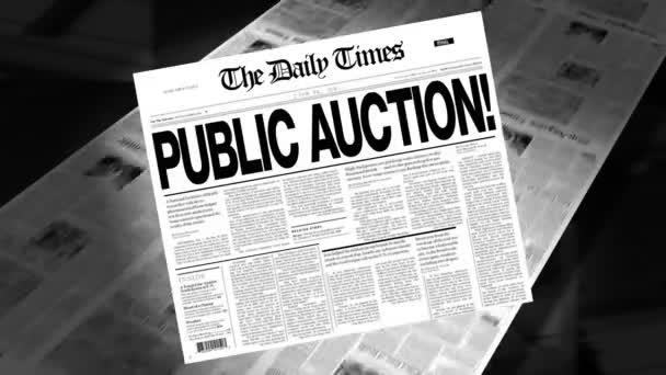 Public Auction! - Newspaper Headline (Intro + Loops)