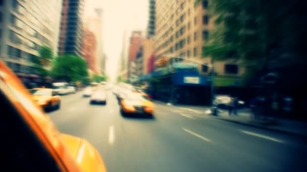 New York City Traffic from Inside Taxi