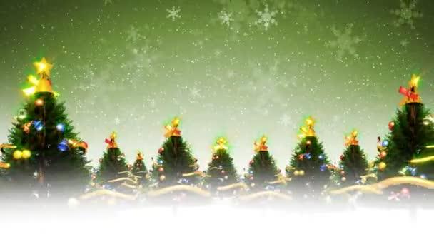 Vánoční stromky a sníh (Hd smyčka)