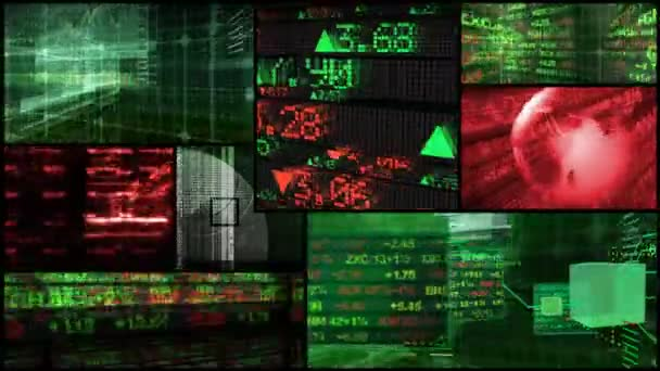 Stock Market  Financial Data Montage