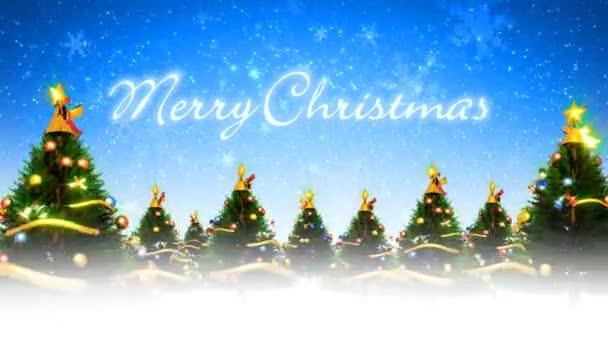 Karácsonyfák és Snow (loop)