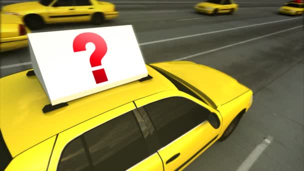 Taxi Advertising Message Board Question Mark (Loop)
