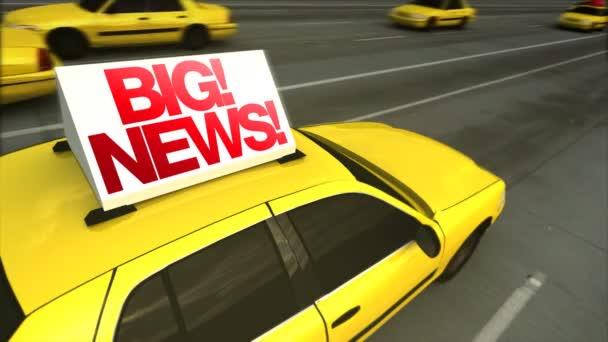 Velké novinky! Taxi reklama Message Board (Loop)