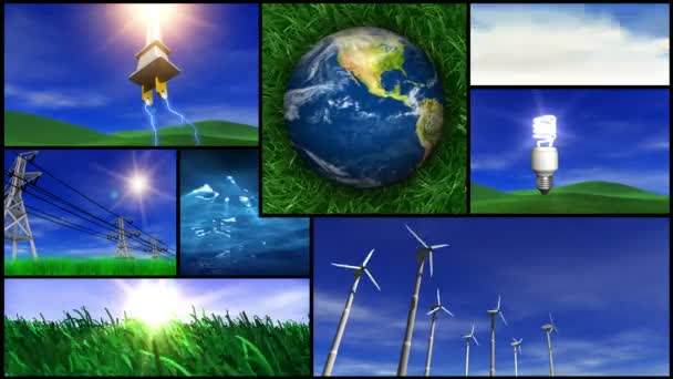 Zelená energie a příroda MONTAGE