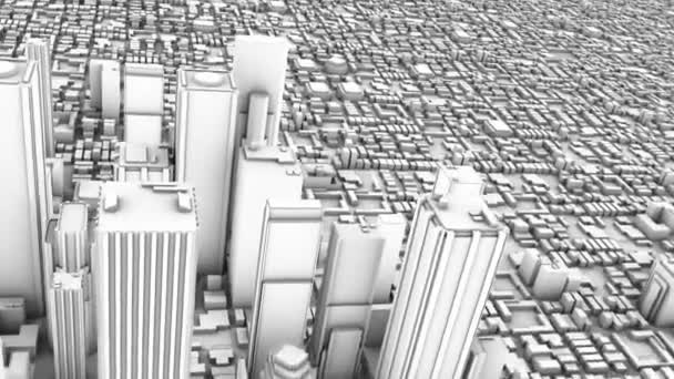 City Skyline Downtown 3D (Looping)
