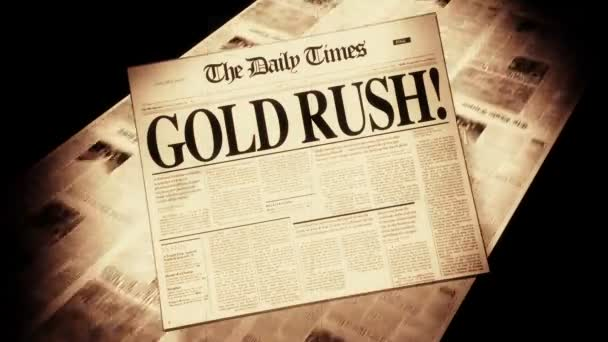 Gold Rush! - Newspaper Headline (Intro + Loops)