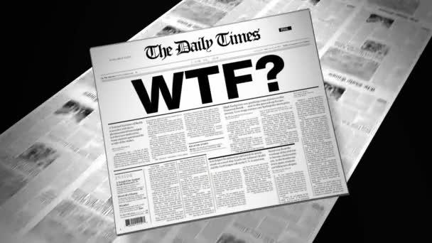 Slang WTF? - Newspaper Headline