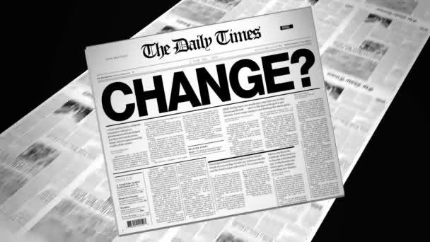 Change? - Newspaper Headline