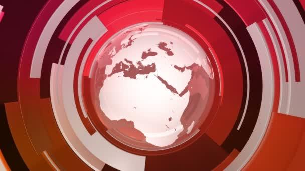 Celosvětová technologie 3D světového animování (HD Loop)