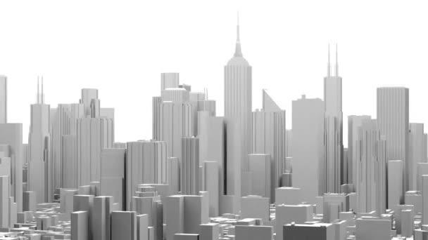 City Office Buildings Fly Orbit (3D) Animation