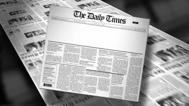 Blank - Newspaper Headline (Reveal and Loop) HD Animation