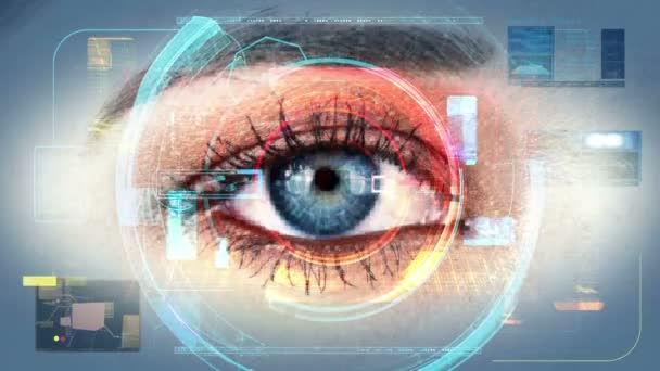 Human Eye Identification Scan Technology Interface